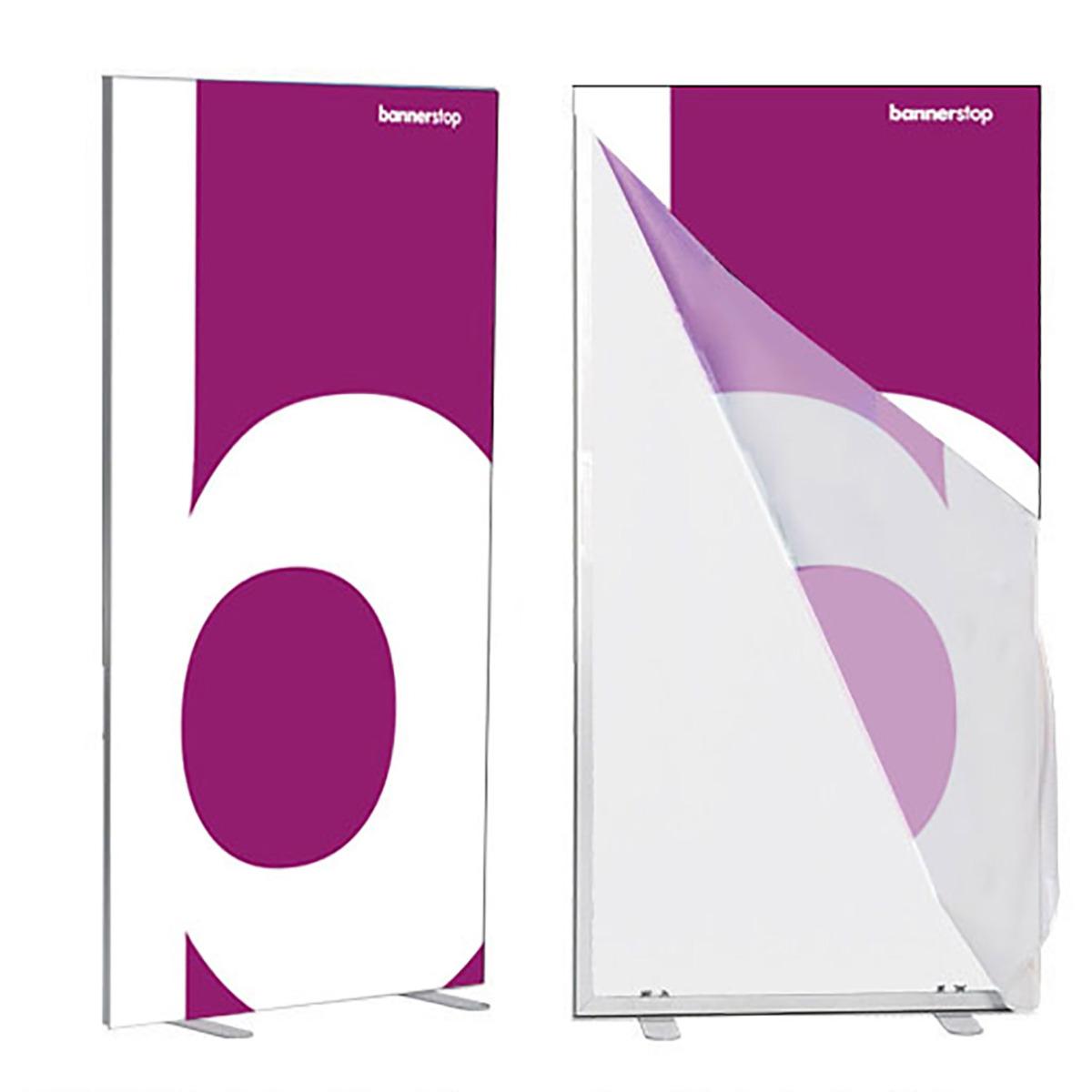 Textilspannrahmen stehend für Werbepräsentation