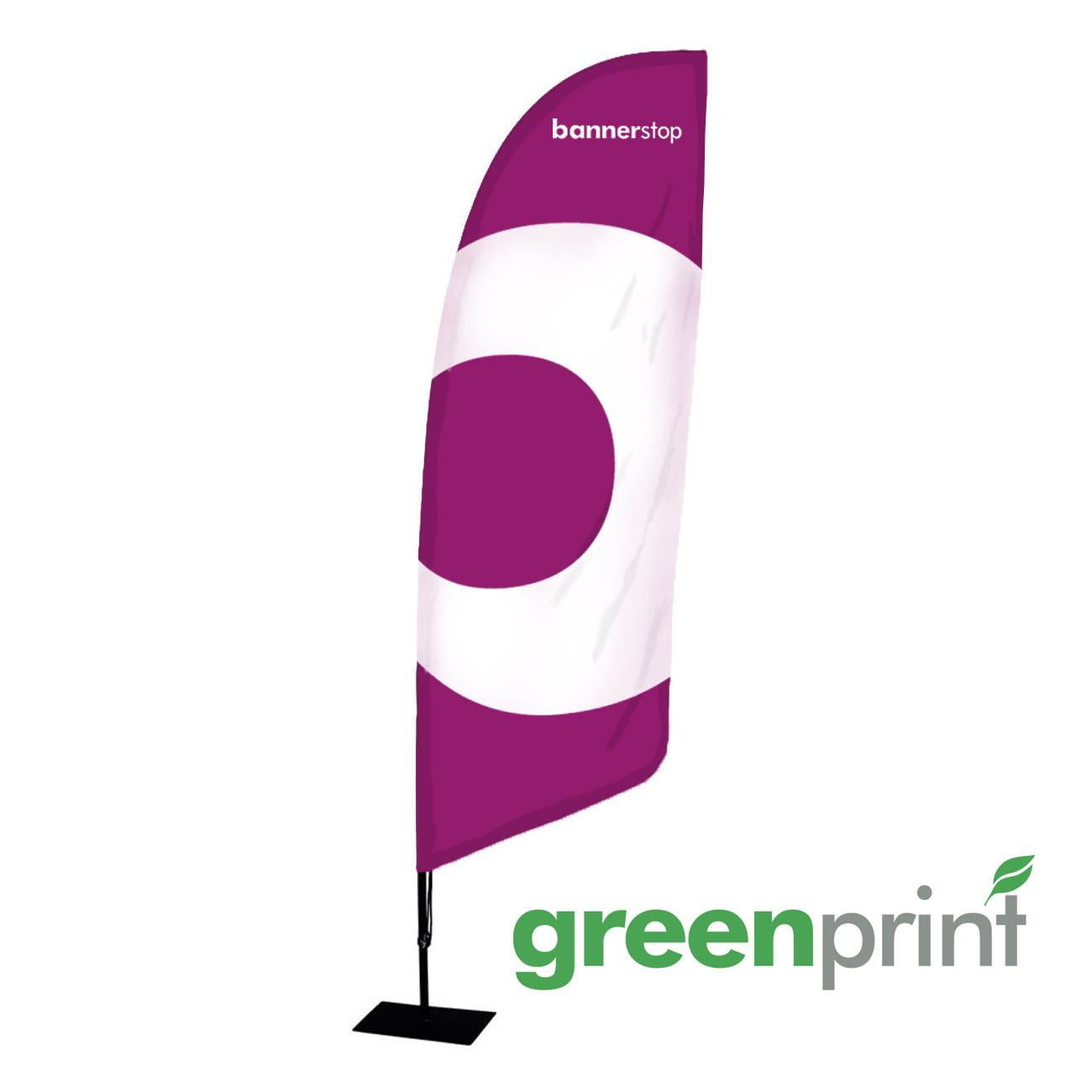 Beachflag drucken aus nachhaltigem Green-Flag Material