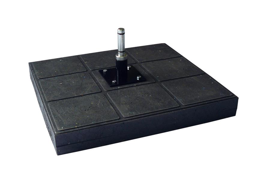 Bodenplatte 13kg aus recycelbarem Stoff